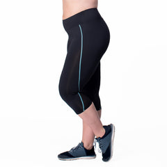 Veronica Capri - Rainbeau Curves, , activewear, athleisure, fitness, workout, gym, performance, womens, ladies, plus size, curvy, full figured, spandex, cotton, polyester - 2
