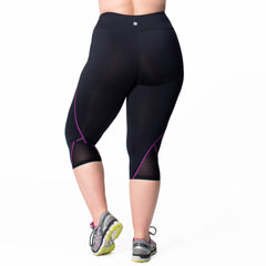 Veronica Capri - Rainbeau Curves, 14/16 / Wild Orchid, activewear, athleisure, fitness, workout, gym, performance, womens, ladies, plus size, curvy, full figured, spandex, cotton, polyester - 4