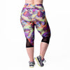 Veronica Print Capri - Rainbeau Curves, , activewear, athleisure, fitness, workout, gym, performance, womens, ladies, plus size, curvy, full figured, spandex, cotton, polyester - 3