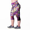 Veronica Print Capri - Rainbeau Curves, , activewear, athleisure, fitness, workout, gym, performance, womens, ladies, plus size, curvy, full figured, spandex, cotton, polyester - 2