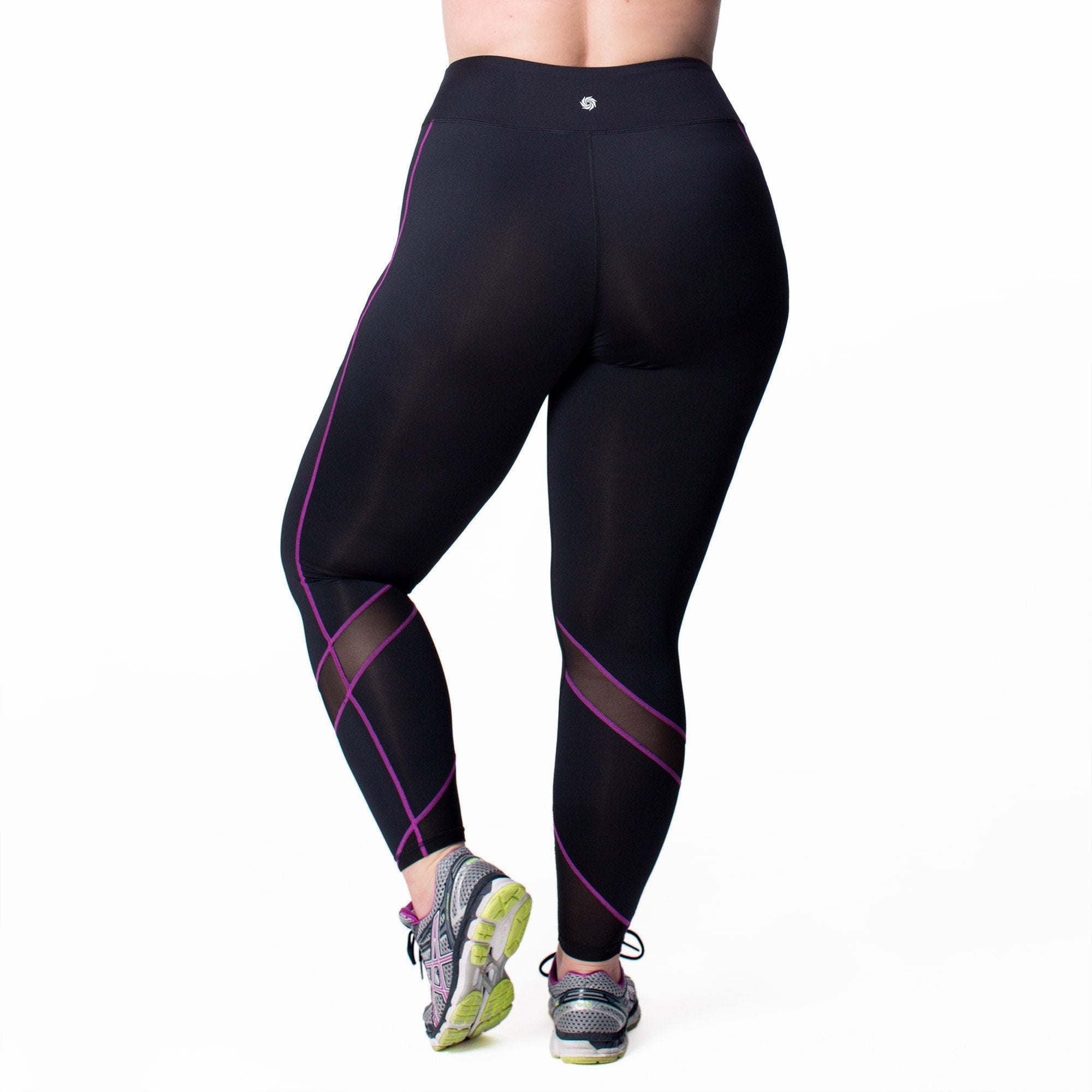 Andrea Sport Legging - Rainbeau Curves, 14/16 / Wild Orchid, activewear, athleisure, fitness, workout, gym, performance, womens, ladies, plus size, curvy, full figured, spandex, cotton, polyester - 1
