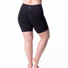 Curve Basix Compression Bike Short - Rainbeau Curves, 14/16 / Black, activewear, athleisure, fitness, workout, gym, performance, womens, ladies, plus size, curvy, full figured, spandex, cotton, polyester - 3
