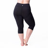 Curve Basix Compression Capri - Rainbeau Curves, 14/16 / Black, activewear, athleisure, fitness, workout, gym, performance, womens, ladies, plus size, curvy, full figured, spandex, cotton, polyester - 3