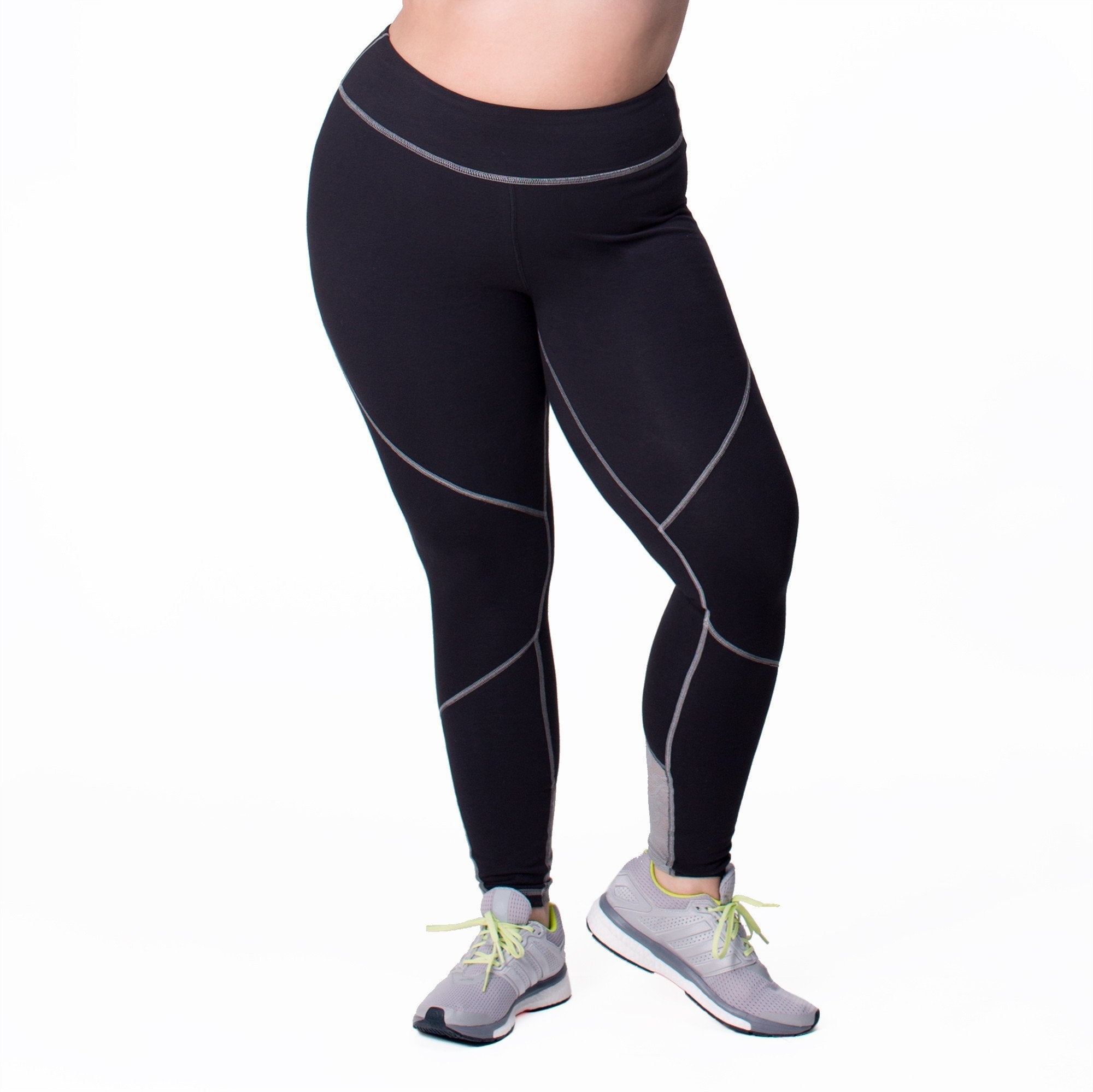 Michelle Legging - Rainbeau Curves, 14/16 / Black, activewear, athleisure, fitness, workout, gym, performance, womens, ladies, plus size, curvy, full figured, spandex, cotton, polyester - 1