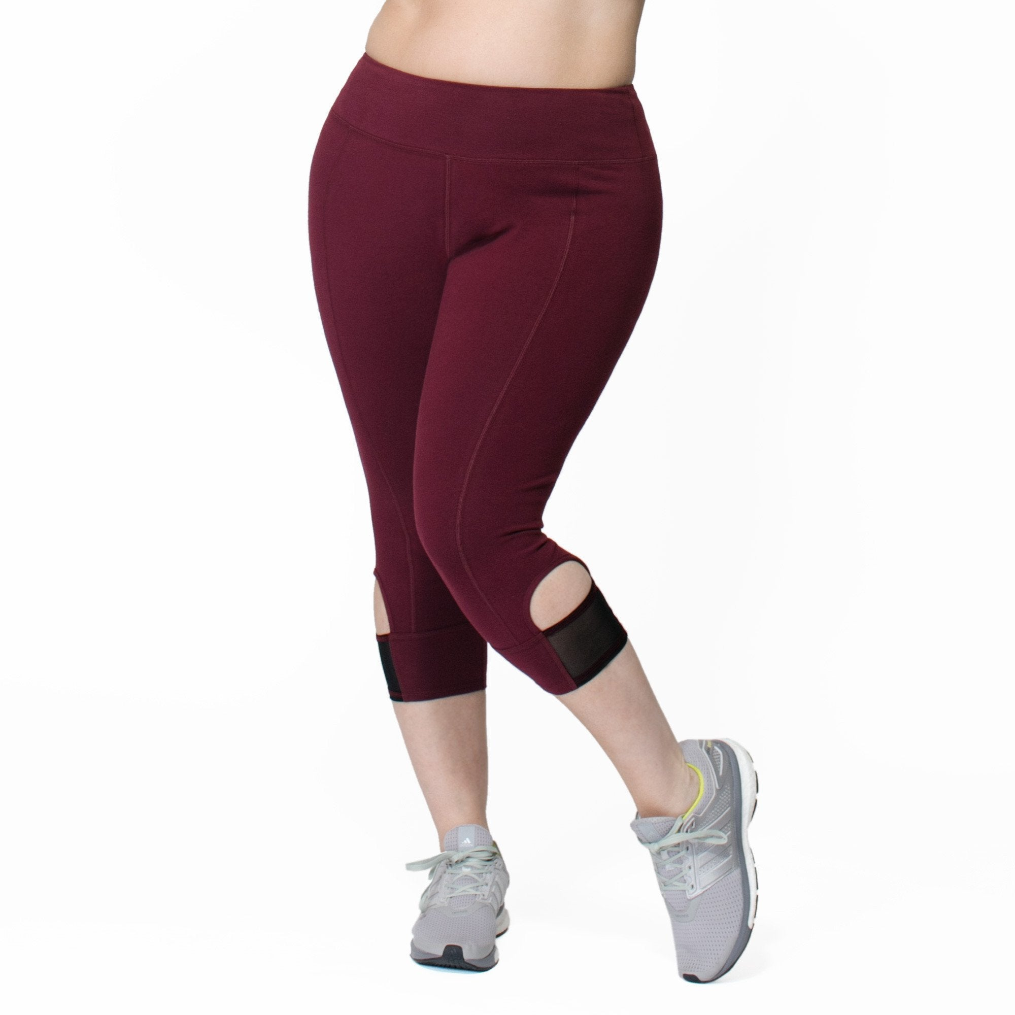 Janet Capri - Rainbeau Curves, 14/16 / Elderberry, activewear, athleisure, fitness, workout, gym, performance, womens, ladies, plus size, curvy, full figured, spandex, cotton, polyester - 1