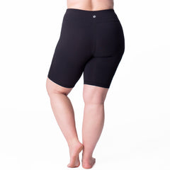 Curve Basix Bike Short - Rainbeau Curves, , activewear, athleisure, fitness, workout, gym, performance, womens, ladies, plus size, curvy, full figured, spandex, cotton, polyester - 2