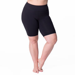 Curve Basix Bike Short - Rainbeau Curves, , activewear, athleisure, fitness, workout, gym, performance, womens, ladies, plus size, curvy, full figured, spandex, cotton, polyester - 1