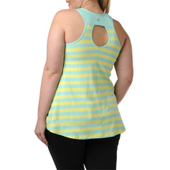 Lillian Stripe Tank - Rainbeau Curves, 14/16 / Kiwi, activewear, athleisure, fitness, workout, gym, performance, womens, ladies, plus size, curvy, full figured, spandex, cotton, polyester - 4