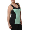 Addison Tank w/ Bra - Rainbeau Curves, 14/16 / Blue Skies, activewear, athleisure, fitness, workout, gym, performance, womens, ladies, plus size, curvy, full figured, spandex, cotton, polyester - 3
