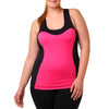 Addison Tank w/ Bra - Rainbeau Curves, 14/16 / Passion Pink, activewear, athleisure, fitness, workout, gym, performance, womens, ladies, plus size, curvy, full figured, spandex, cotton, polyester - 1