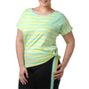 Naomi T-Shirt - Rainbeau Curves, 14/16 / Kiwi, activewear, athleisure, fitness, workout, gym, performance, womens, ladies, plus size, curvy, full figured, spandex, cotton, polyester - 3