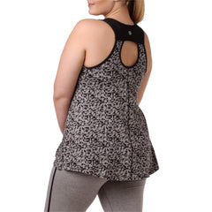 Sophia Print Tank - Rainbeau Curves, 14/16 / Geo Black, activewear, athleisure, fitness, workout, gym, performance, womens, ladies, plus size, curvy, full figured, spandex, cotton, polyester - 3