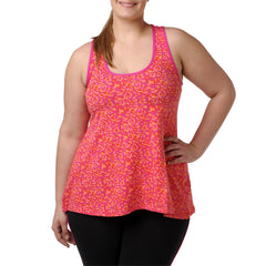 Sophia Print Tank - Rainbeau Curves, 14/16 / Geo Passion Pink, activewear, athleisure, fitness, workout, gym, performance, womens, ladies, plus size, curvy, full figured, spandex, cotton, polyester - 1