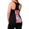Addison Print Tank w/ Bra - Rainbeau Curves, , activewear, athleisure, fitness, workout, gym, performance, womens, ladies, plus size, curvy, full figured, spandex, cotton, polyester - 2
