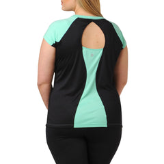 Jodie Sporty Tee - Rainbeau Curves, , activewear, athleisure, fitness, workout, gym, performance, womens, ladies, plus size, curvy, full figured, spandex, cotton, polyester - 2