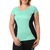 Jodie Sporty Tee - Rainbeau Curves, 14/16 / Blue Skies, activewear, athleisure, fitness, workout, gym, performance, womens, ladies, plus size, curvy, full figured, spandex, cotton, polyester - 1