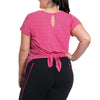 Vanessa Tee - Rainbeau Curves, 14/16 / Pink Posey, activewear, athleisure, fitness, workout, gym, performance, womens, ladies, plus size, curvy, full figured, spandex, cotton, polyester - 3