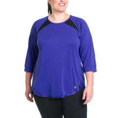 Miranda Pullover - Rainbeau Curves, 14/16 / Cobalt, activewear, athleisure, fitness, workout, gym, performance, womens, ladies, plus size, curvy, full figured, spandex, cotton, polyester - 1