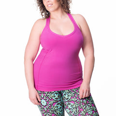 Ariel Tank - Rainbeau Curves, , activewear, athleisure, fitness, workout, gym, performance, womens, ladies, plus size, curvy, full figured, spandex, cotton, polyester - 1