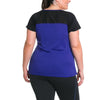 Charlotte Tee - Rainbeau Curves, , activewear, athleisure, fitness, workout, gym, performance, womens, ladies, plus size, curvy, full figured, spandex, cotton, polyester - 2