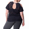 Joni Tee - Rainbeau Curves, , activewear, athleisure, fitness, workout, gym, performance, womens, ladies, plus size, curvy, full figured, spandex, cotton, polyester - 2