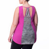Marie Tank - Rainbeau Curves, 14/16 / Wild Orchid, activewear, athleisure, fitness, workout, gym, performance, womens, ladies, plus size, curvy, full figured, spandex, cotton, polyester - 4