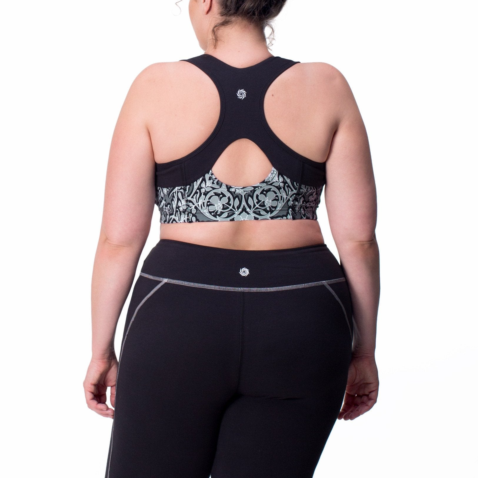 Jenna Print Bra - Rainbeau Curves, , activewear, athleisure, fitness, workout, gym, performance, womens, ladies, plus size, curvy, full figured, spandex, cotton, polyester - 1