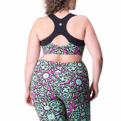 Jenna Print Bra - Rainbeau Curves, 14/16 / Multi Floral Trellis, activewear, athleisure, fitness, workout, gym, performance, womens, ladies, plus size, curvy, full figured, spandex, cotton, polyester - 3