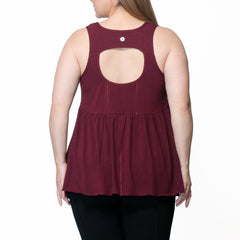 Adele Tank - Rainbeau Curves, , activewear, athleisure, fitness, workout, gym, performance, womens, ladies, plus size, curvy, full figured, spandex, cotton, polyester - 2