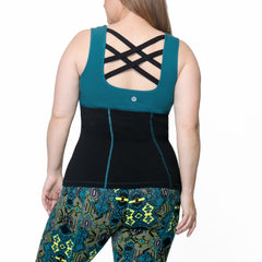 Janis Tank - Rainbeau Curves, , activewear, athleisure, fitness, workout, gym, performance, womens, ladies, plus size, curvy, full figured, spandex, cotton, polyester - 2