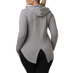 Charlotte Zip Hoodie - Rainbeau Curves, , activewear, athleisure, fitness, workout, gym, performance, womens, ladies, plus size, curvy, full figured, spandex, cotton, polyester - 2