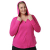 Charlotte Zip Hoodie - Rainbeau Curves, 14/16 / Passion Pink, activewear, athleisure, fitness, workout, gym, performance, womens, ladies, plus size, curvy, full figured, spandex, cotton, polyester - 4