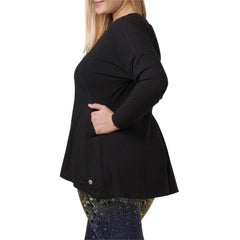 Adrianna Sweatshirt - Rainbeau Curves, , activewear, athleisure, fitness, workout, gym, performance, womens, ladies, plus size, curvy, full figured, spandex, cotton, polyester - 2