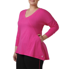 Adrianna Sweatshirt - Rainbeau Curves, 14/16 / Passion Pink, activewear, athleisure, fitness, workout, gym, performance, womens, ladies, plus size, curvy, full figured, spandex, cotton, polyester - 3