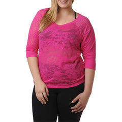 Madelynn Top - Rainbeau Curves, 14/16 / Passion Pink, activewear, athleisure, fitness, workout, gym, performance, womens, ladies, plus size, curvy, full figured, spandex, cotton, polyester - 1