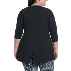Cathy Pullover - Rainbeau Curves, , activewear, athleisure, fitness, workout, gym, performance, womens, ladies, plus size, curvy, full figured, spandex, cotton, polyester - 2
