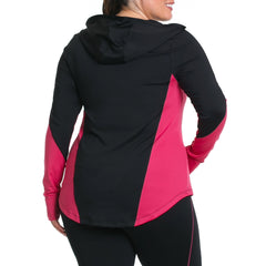 Xela Jacket - Rainbeau Curves, , activewear, athleisure, fitness, workout, gym, performance, womens, ladies, plus size, curvy, full figured, spandex, cotton, polyester - 3