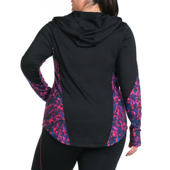 Xela Print Jacket - Rainbeau Curves, , activewear, athleisure, fitness, workout, gym, performance, womens, ladies, plus size, curvy, full figured, spandex, cotton, polyester - 3