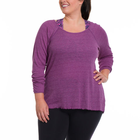 Emilia Long Sleeve - Rainbeau Curves, , activewear, athleisure, fitness, workout, gym, performance, womens, ladies, plus size, curvy, full figured, spandex, cotton, polyester - 1