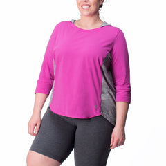 Kathleen Pullover - Rainbeau Curves, , activewear, athleisure, fitness, workout, gym, performance, womens, ladies, plus size, curvy, full figured, spandex, cotton, polyester - 2