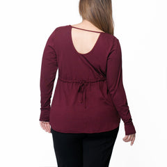 Fiona Long Sleeve - Rainbeau Curves, , activewear, athleisure, fitness, workout, gym, performance, womens, ladies, plus size, curvy, full figured, spandex, cotton, polyester - 2