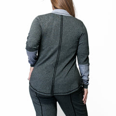 Ella Zip-Up - Rainbeau Curves, , activewear, athleisure, fitness, workout, gym, performance, womens, ladies, plus size, curvy, full figured, spandex, cotton, polyester - 4