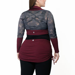 Whitney Bolero Cardigan - Rainbeau Curves, , activewear, athleisure, fitness, workout, gym, performance, womens, ladies, plus size, curvy, full figured, spandex, cotton, polyester - 3