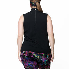 Carrie Print Zip Vest - Rainbeau Curves, , activewear, athleisure, fitness, workout, gym, performance, womens, ladies, plus size, curvy, full figured, spandex, cotton, polyester - 3