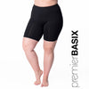 Nylon Basix Bike Short - Rainbeau Curves, 14/16 / Black, activewear, athleisure, fitness, workout, gym, performance, womens, ladies, plus size, curvy, full figured, spandex, cotton, polyester - 1