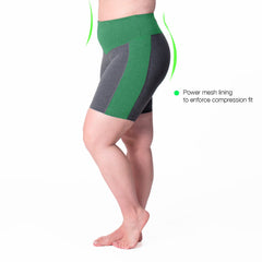 Curve Basix Compression Bike Short - Rainbeau Curves, , activewear, athleisure, fitness, workout, gym, performance, womens, ladies, plus size, curvy, full figured, spandex, cotton, polyester - 2