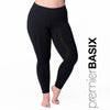 Nylon Basix Legging - Rainbeau Curves, 14/16 / Black, activewear, athleisure, fitness, workout, gym, performance, womens, ladies, plus size, curvy, full figured, spandex, cotton, polyester - 1