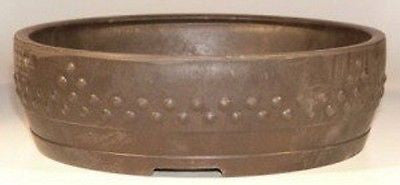 Mica Bonsai Pot -  Nail Head Design Round Bonsai Pots in 2 sizes