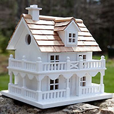 "Birdhouse (New England Dweller) handcrafted kiln-dried hardwood 10.5""x9.0""x9.5"""