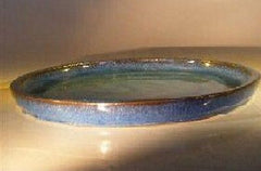 "Bonsai Ceramic Humidity/Drip Tray Blue Round Bonsai Tray 10"" x 1"""